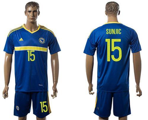 Bosnia Herzegovina #15 Sunjic Home Soccer Country Jersey