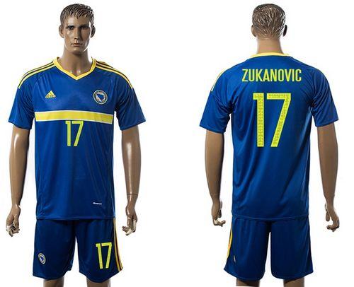 Bosnia Herzegovina #17 Zukanovic Home Soccer Country Jersey