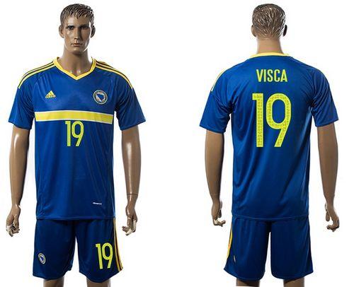 Bosnia Herzegovina #19 Visca Home Soccer Country Jersey