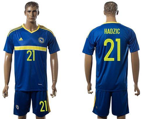 Bosnia Herzegovina #21 Hardzic Home Soccer Country Jersey