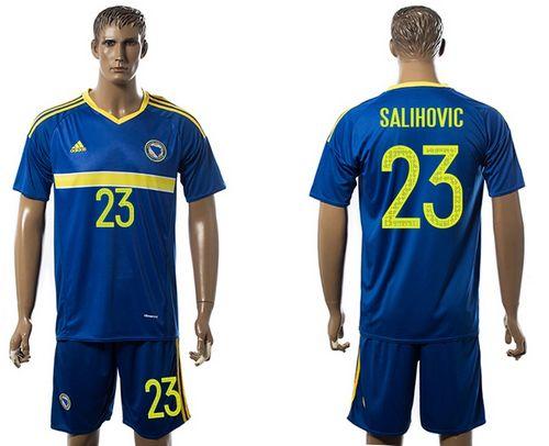 Bosnia Herzegovina #23 Salihovic Home Soccer Country Jersey