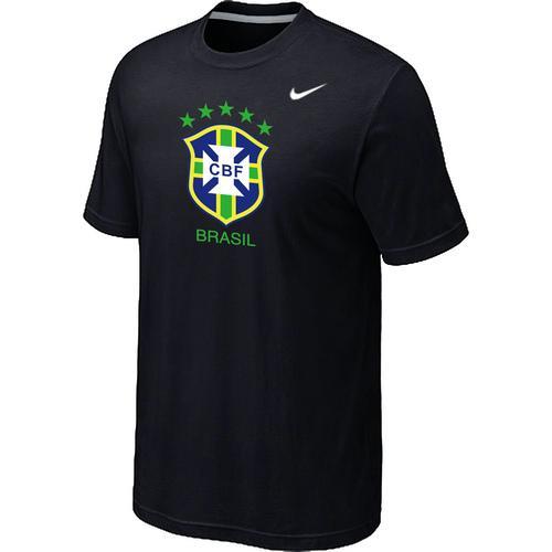 Nike Brazil 2014 World Short Sleeves Soccer T-Shirt Black