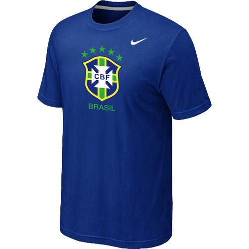 Nike Brazil 2014 World Short Sleeves Soccer T-Shirt Blue
