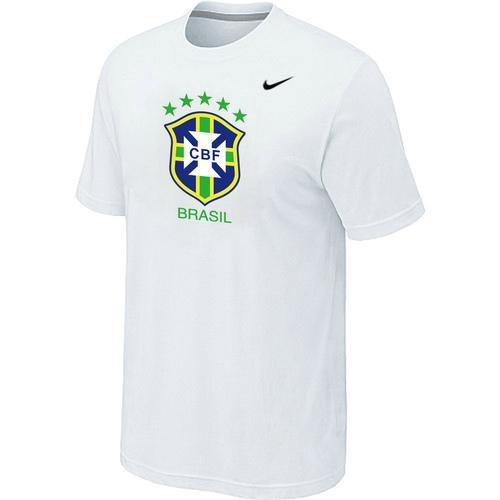 Nike Brazil 2014 World Short Sleeves Soccer T-Shirt White
