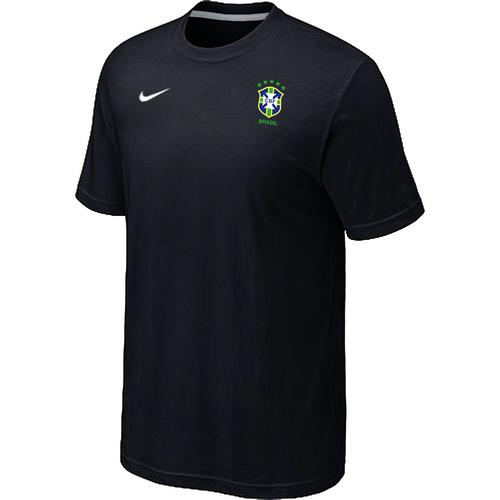 Nike Brazil 2014 World Small Logo Soccer T-Shirt Black