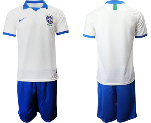Brazil Blank White Soccer Country Jersey