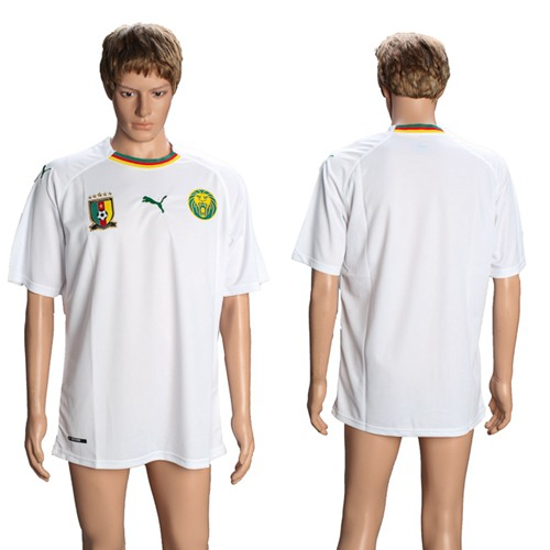 Cameroon Blank Away Soccer Country Jersey