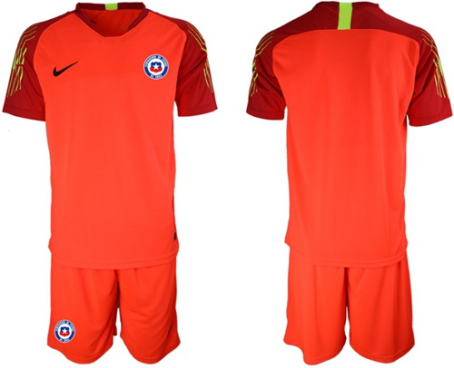 Chile Blank Red Goalkeeper Soccer Country Jersey