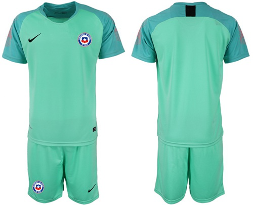 Chile Blank Green Goalkeeper Soccer Country Jersey