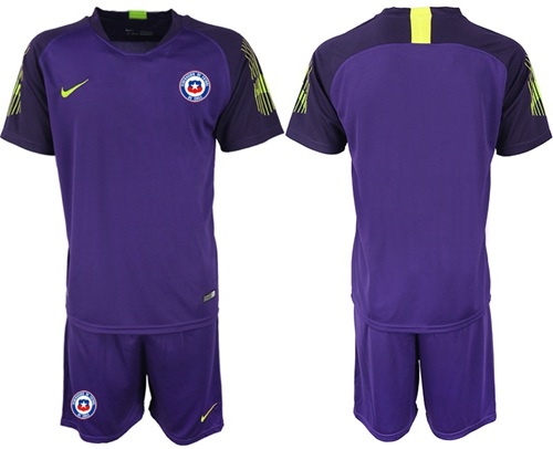 Chile Blank Purple Goalkeeper Soccer Country Jersey