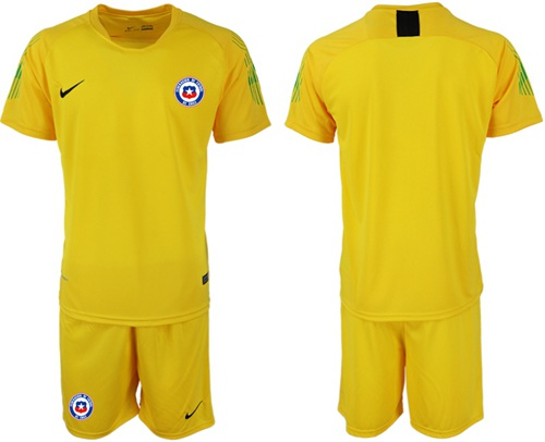 Chile Blank Yellow Goalkeeper Soccer Country Jersey
