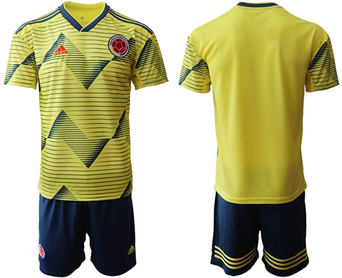 Colombia Blank Home Soccer Country Jersey