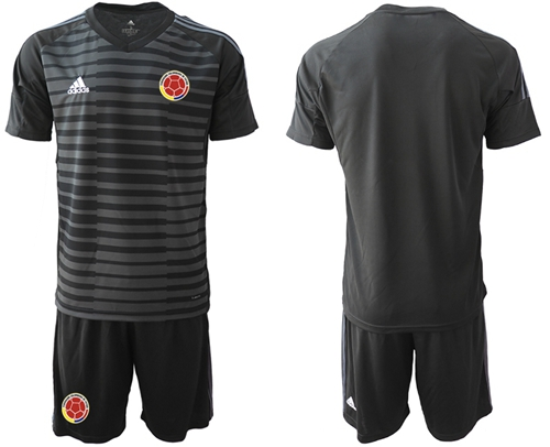 Colombia Blank Black Goalkeeper Soccer Country Jersey