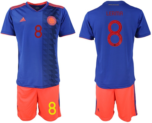 Colombia #8 Lerma Away Soccer Country Jersey