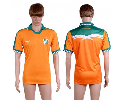 Cote d'lvoire Blank Home Soccer Country Jersey