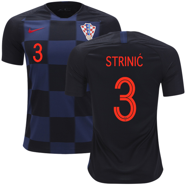 Croatia #3 Strinic Away Soccer Country Jersey