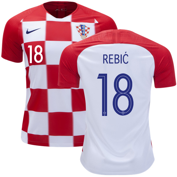 Croatia #18 Rebic Home Soccer Country Jersey