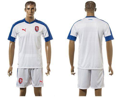 Czech Blank Away Soccer Country Jersey