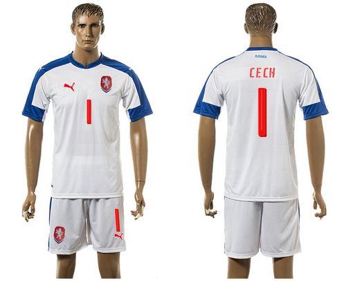 Czech #1 Cech Away Soccer Country Jersey