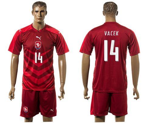 Czech #14 Vacek Red Home Soccer Country Jersey