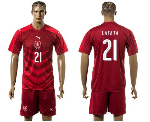 Czech #21 Lafata Red Home Soccer Country Jersey