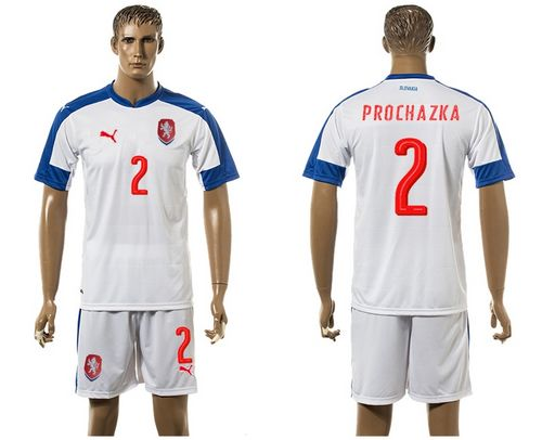 Czech #2 Prochazka Away Soccer Country Jersey