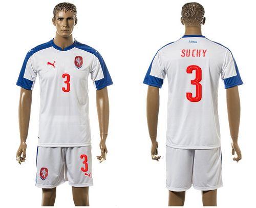 Czech #3 Suchy Away Soccer Country Jersey