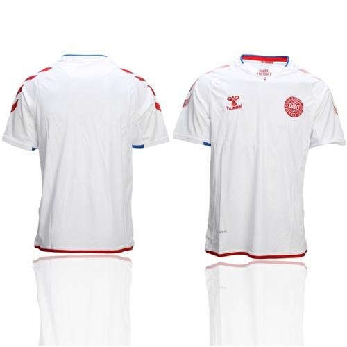Danmark Blank Away Soccer Country Jersey