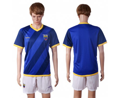 Ecuador Blank Away Soccer Country Jersey