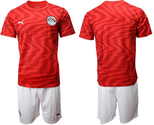 Egypt Blank Red Home Soccer Country Jersey