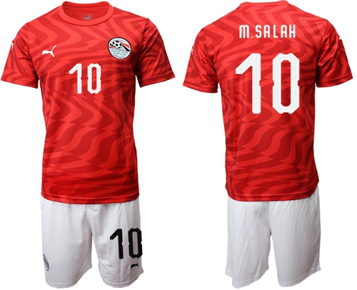 Egypt #10 M.Salah Red Home Soccer Country Jersey