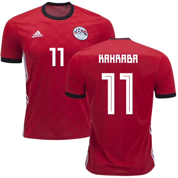 Egypt #11 Kahraba Red Home Soccer Country Jersey