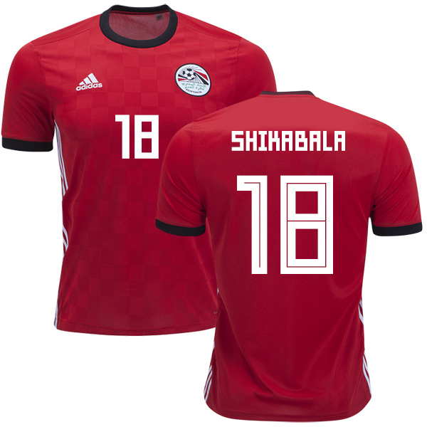 Egypt #18 Shikabala Red Home Soccer Country Jersey