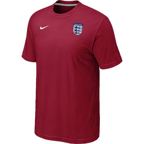 Nike England 2014 World Small Logo Soccer T-Shirt Red
