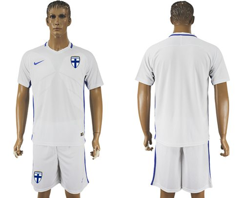 Finland Blank Home Soccer Country Jersey