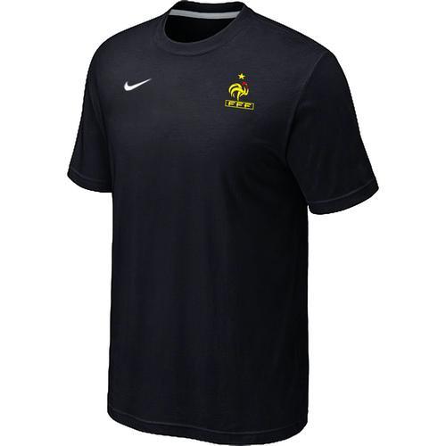 Nike France 2014 World Small Logo Soccer T-Shirt Black