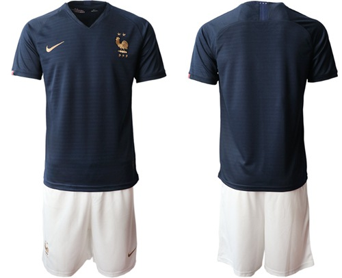 France Blank Home Soccer Country Jersey