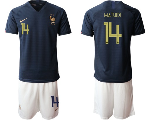 France #14 Matuidi Home Soccer Country Jersey