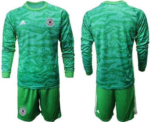 Germany Blank Green Goalkeeper Long Sleeves Soccer Country Jersey