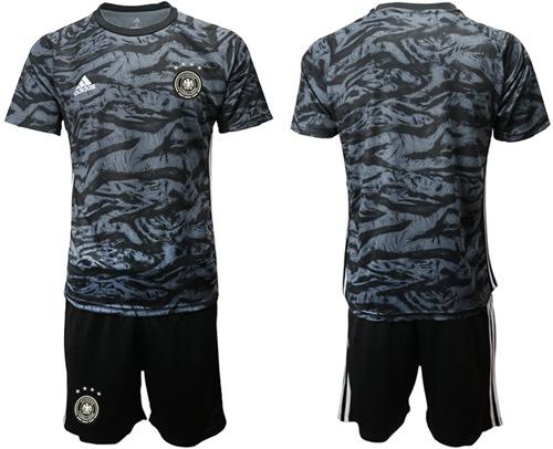 Germany Blank Black Goalkeeper Soccer Country Jersey