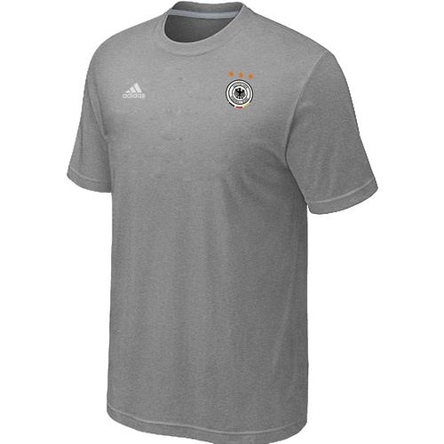 Adidas Germany 2014 World Small Logo Soccer T-Shirt Light Grey