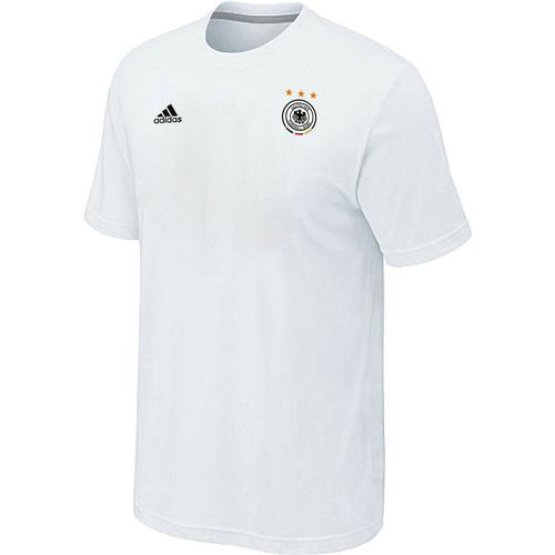 Adidas Germany 2014 World Small Logo Soccer T-Shirt White