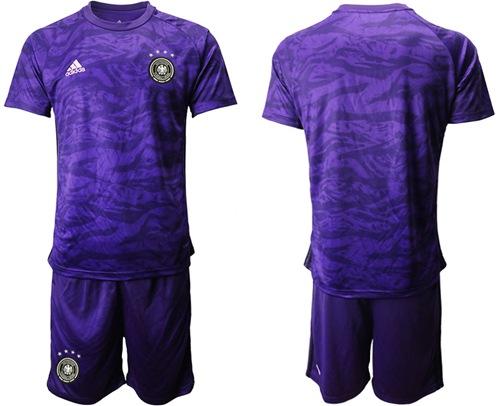 Germany Blank Purple Goalkeeper Soccer Country Jersey