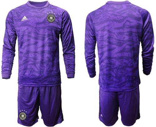 Germany Blank Purple Goalkeeper Long Sleeves Soccer Country Jersey