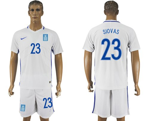 Greece #23 Siovas Home Soccer Country Jersey