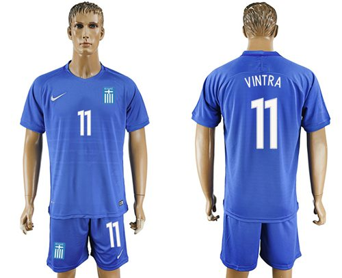Greece #11 Vintra Away Soccer Country Jersey