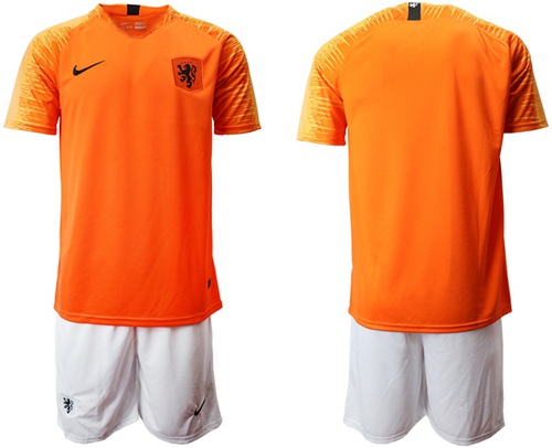 Holland Blank Home Soccer Country Jersey