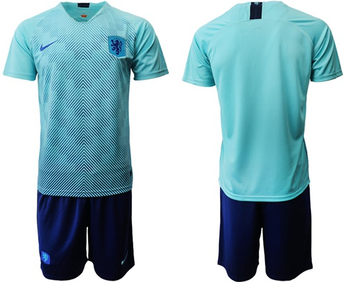 Holland Blank Away Soccer Country Jersey