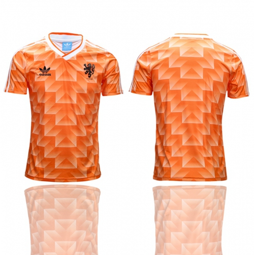 Holland Blank Orange Throwback Soccer Country Jersey
