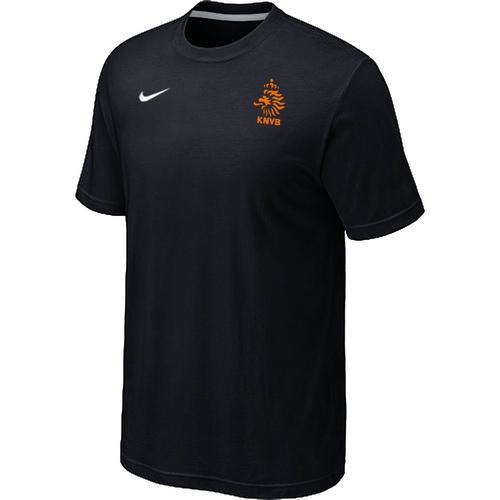 Nike Holland 2014 World Small Logo Soccer T-Shirt Black